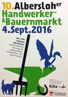 Das Erzählzelt auf dem Handwerker- und Bauernmarkt in Albersloh